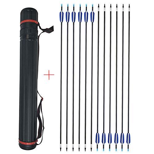 ZSHJG 12pcs Carbonpfeile für Bogenschießen...