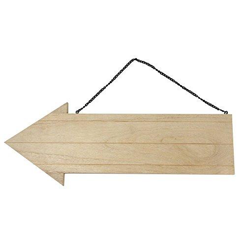 Rayher 6199000 Holz Pfeil mit Metallkette...