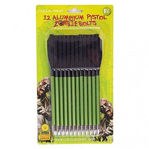 12 Aluminiumpfeile Pistolenarmbrust grün