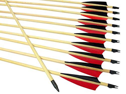 Arrowforge - 12 Stück Holzpfeile Pfeile 4'...