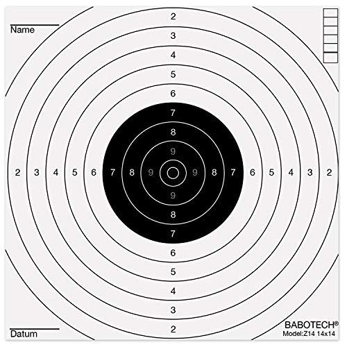 Babotech Luftgewehr Zielscheiben 14x14cm für...